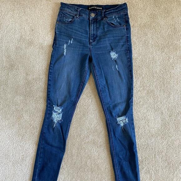 Express Denim - Express Skinny Jeans Medium Wash